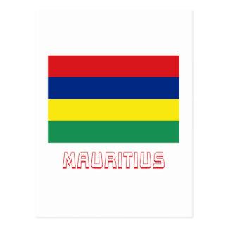 Mauritius Flag with Name Postcard