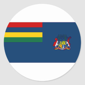 Mauritius Government Ensign Round Sticker