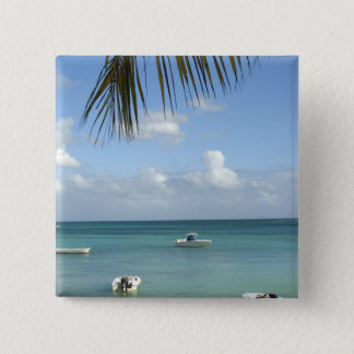 Mauritius, Grand Baie. Boats anchored in the 15 Cm Square Badge