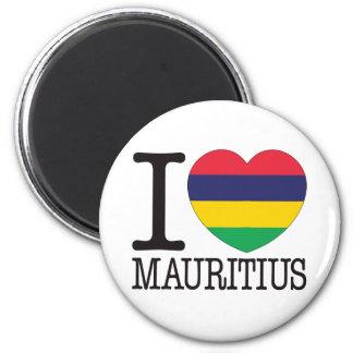 Mauritius Love v2 6 Cm Round Magnet