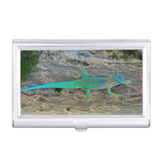 Mauritius Lowland Forest Day Gecko Business Card Holder