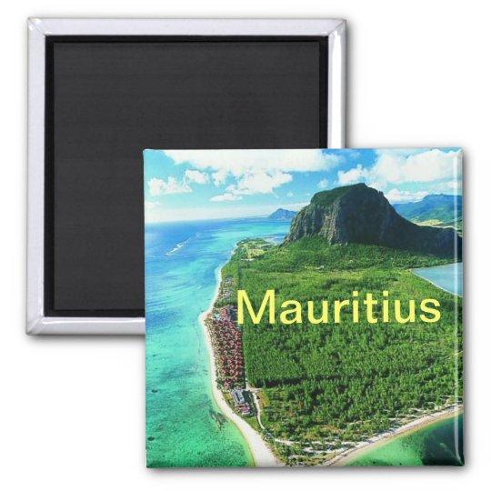 Mauritius magnet` square magnet