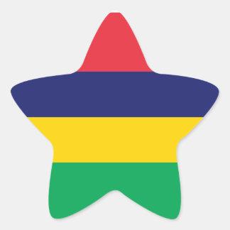 Mauritius/Mauritian Flag Star Sticker