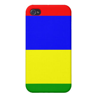 Mauritius National Nation Flag  Cases For iPhone 4