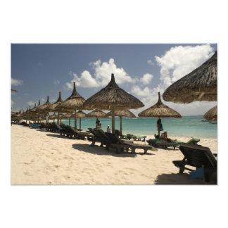 Mauritius, Poste de Flacq. Beach scene at the Photo Print
