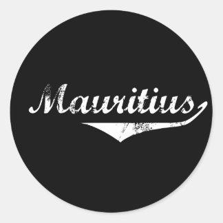 Mauritius Revolution Style Classic Round Sticker