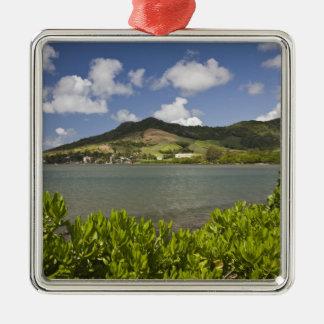 Mauritius, Southern Mauritius, Grand Sable, Silver-Colored Square Decoration