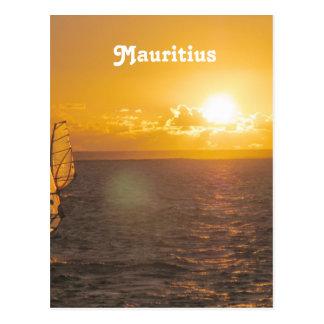 Mauritius Sunset Postcard