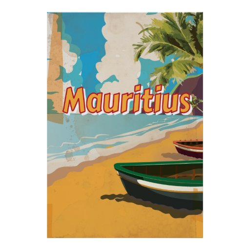Mauritius Vintage vacation Poster