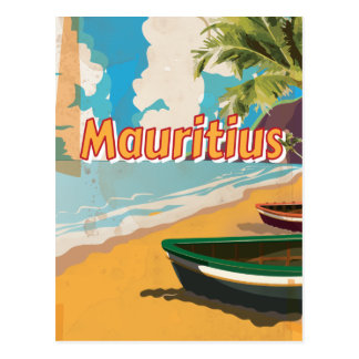 Mauritius Vintage vacation Poster Post Card