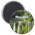 Mauritius Waterfalls 6 Cm Round Magnet