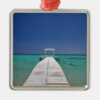 Mauritius, Western Mauritius, Le Morne 2 Silver-Colored Square Decoration