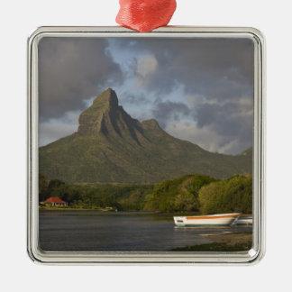 Mauritius, Western Mauritius, Tamarin, Montagne Silver-Colored Square Decoration