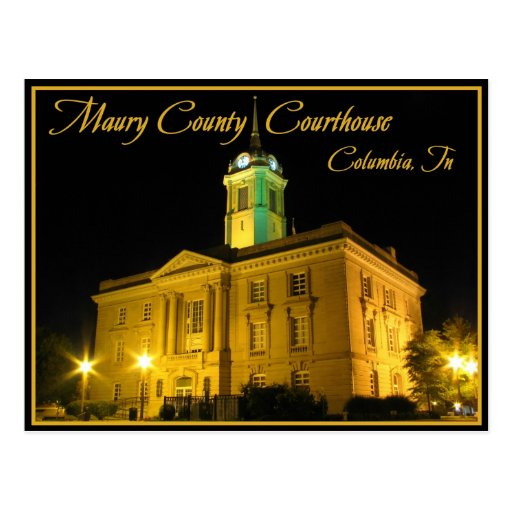 Maury County Courthouse - Columbia, TN Postcards