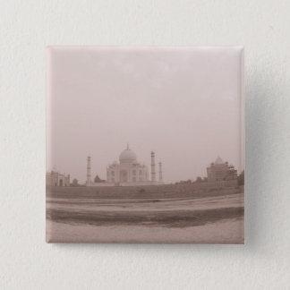 'Mausoleum at the riverside, Taj Mahal, Agra, 15 Cm Square Badge