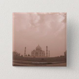 'Mausoleum at the riverside, Taj Mahal, Agra, 2 15 Cm Square Badge