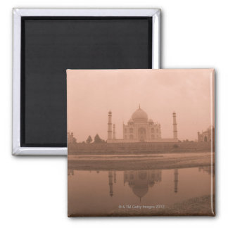 Mausoleum at the riverside, Taj Mahal, Agra Square Magnet