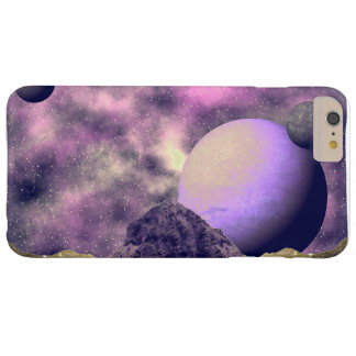 Mauve And Pink Alien Space Scene Barely There iPhone 6 Plus Case
