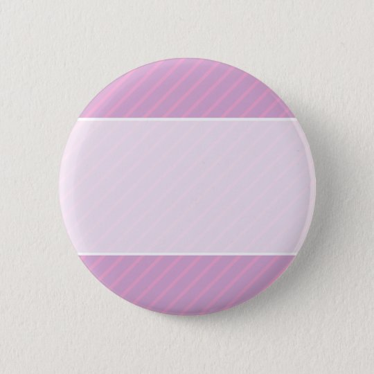 Mauve and Pink Diagonal Striped Pattern. 6 Cm Round Badge