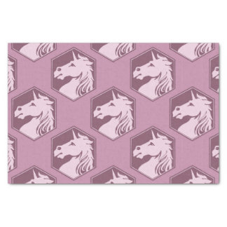 Mauve and Rose Pink Unicorn Array Tissue Paper