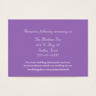 Mauve and White Wedding enclosure cards