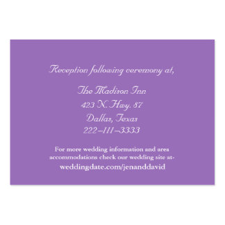 Mauve and White Wedding enclosure cards Pack Of Chubby Business Cards