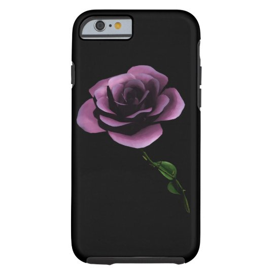 MAUVE BLACK ROSE iPHONE 6 BARELY THERE Tough