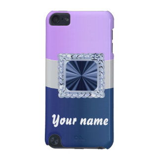 Mauve & blue customizable text iPod touch (5th generation) covers