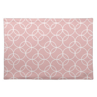 Mauve Circle Pattern Placemat