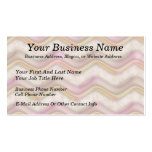 Mauve, Coral and Gold Zig Zags Double-Sided Standard Business Cards (Pack Of 100)