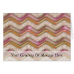 Mauve, Coral and Gold Zig Zags Card