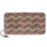 Mauve, Coral and Gold Zig Zags iPod Speakers