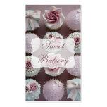 Mauve Designer Cupcake Bakery Business Card Template