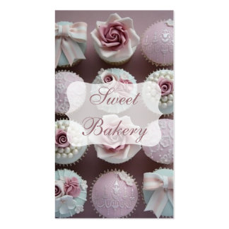 Mauve Designer Cupcake Bakery Double-Sided Standard Business Cards (Pack Of 100)