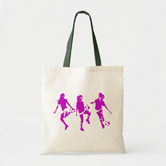 Mauve Female Soccer Skills Tote Bag
