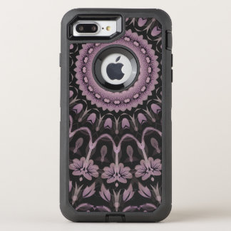 Mauve Floral Mandala OtterBox Defender iPhone 8 Plus/7 Plus Case
