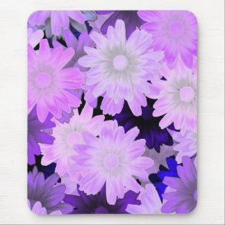 Mauve floral mouse mat