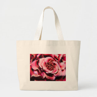 Mauve Flower Tote Bags