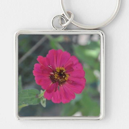 Mauve flower keychains
