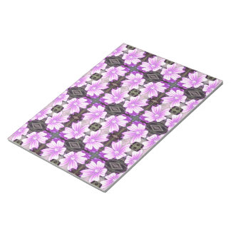 Mauve Flower Photo Fractal Note Pad Large