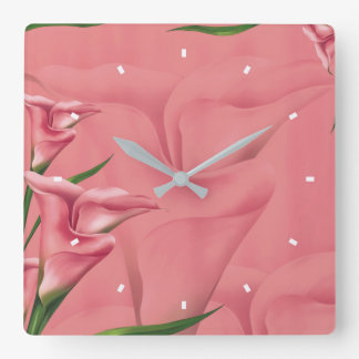 Mauve Flower Wall Clock by Julie Everhart