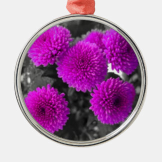 Mauve Flowers Christmas Ornament