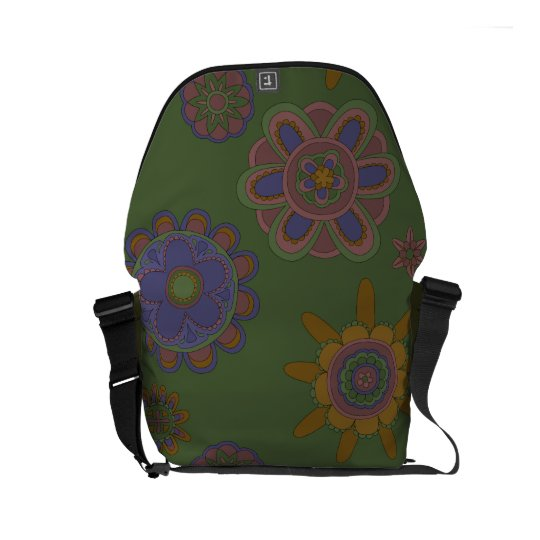 Mauve & Gold Flowers Commuter Bags