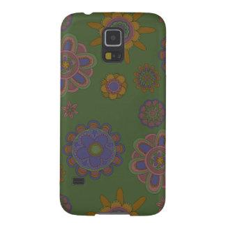 Mauve & Gold Flowers Galaxy S5 Case