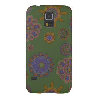 Mauve & Gold Flowers Galaxy S5 Covers
