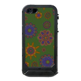 Mauve & Gold Flowers Incipio ATLAS ID™ iPhone 5 Case