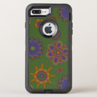 Mauve & Gold Flowers OtterBox Defender iPhone 8 Plus/7 Plus Case