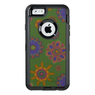 Mauve & Gold Flowers OtterBox iPhone 6/6s Case