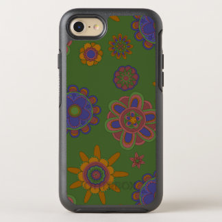 Mauve & Gold Flowers OtterBox Symmetry iPhone 8/7 Case