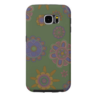 Mauve & Gold Flowers Samsung Galaxy S6 Cases
